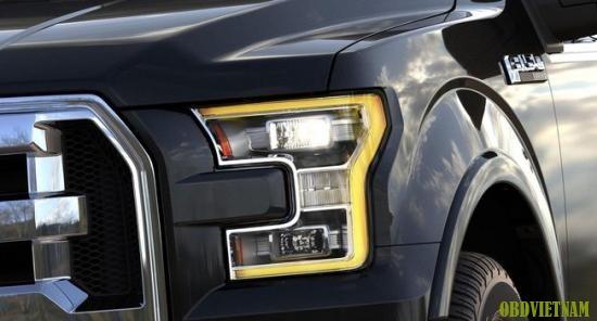 Hệ thống đèn pha trên Ford F-150 giúp người lái thư giãn hơn