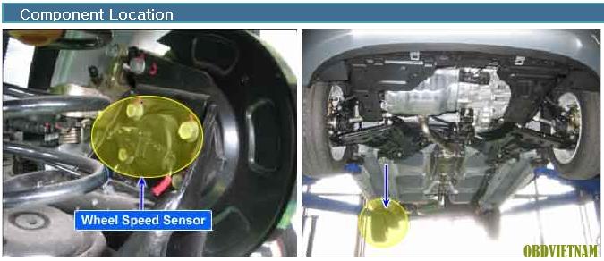 Phân Tích Mã Lỗi C1211 Wheel Speed Sensor Rear RH Invalid/No Signal - Hyundai i10