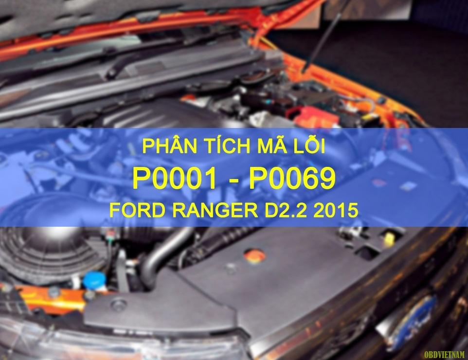Phân Tích Mã Lỗi P0001 - P0069 Xe Ford Ranger
