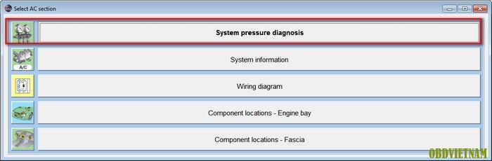 System Pressure diagnosis phần mềm Autodata