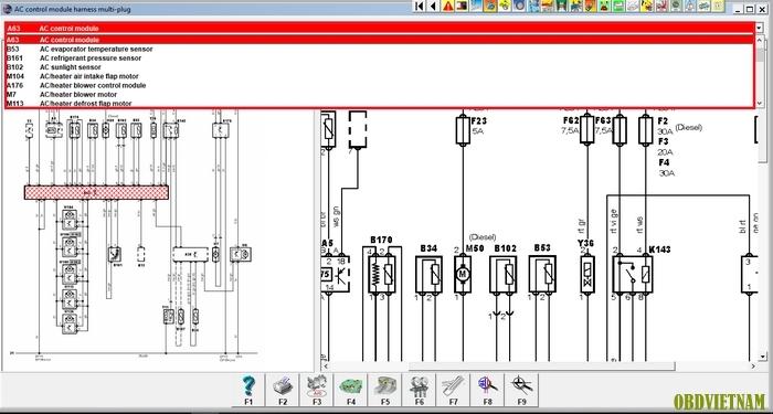 Tính năng tra cứu mạch điện Autodata