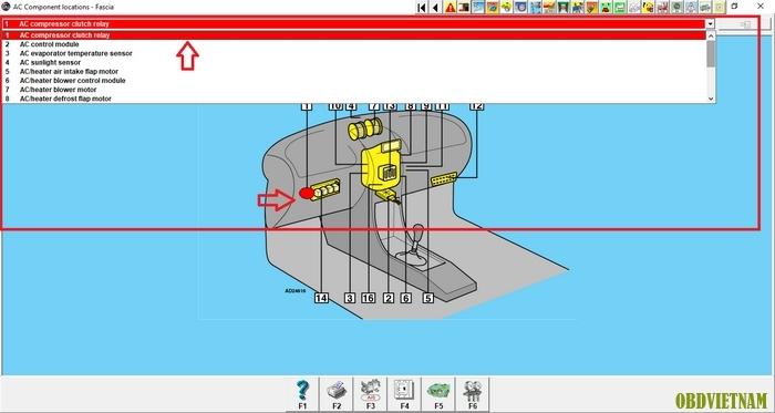 Tra cứu hệ thống điều hòa bằng phần mềm Autodata