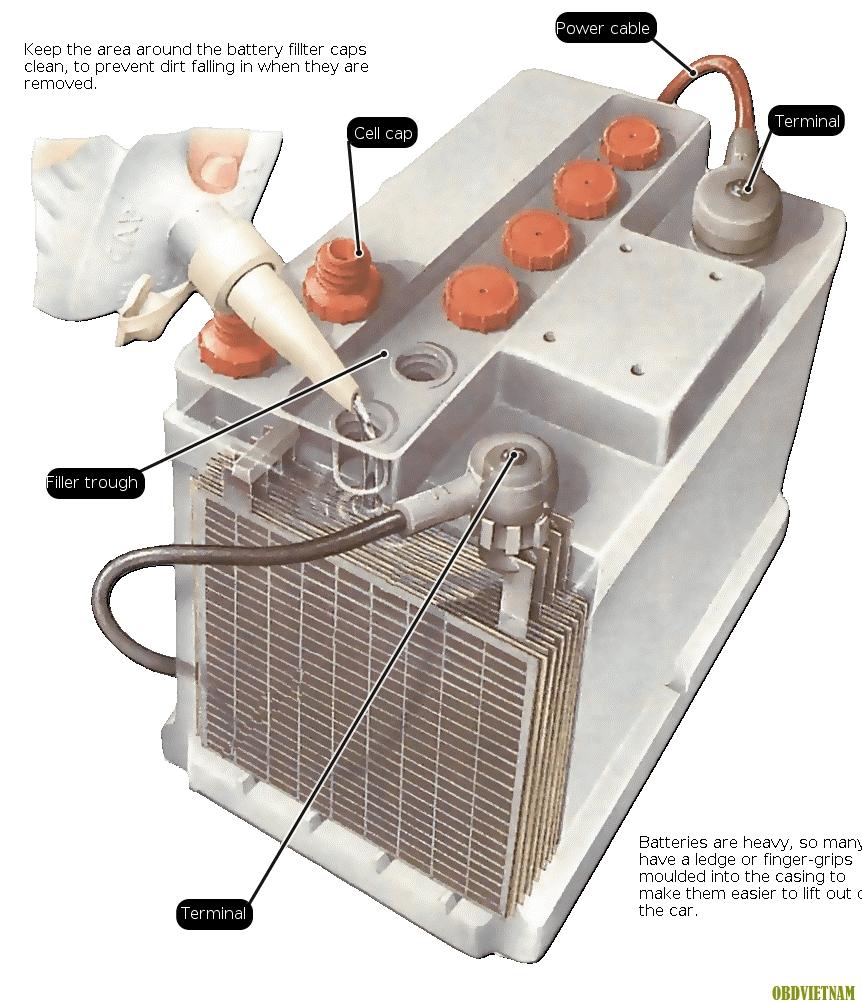 Tiếng Anh Chuyên Ngành Ô Tô (Phần 93) - Checking The Batteries - Cách Kiểm Tra Ắc Quy