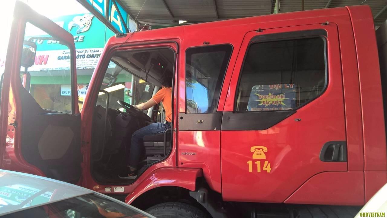 xe chữa cháy tại nơi chuyển giao