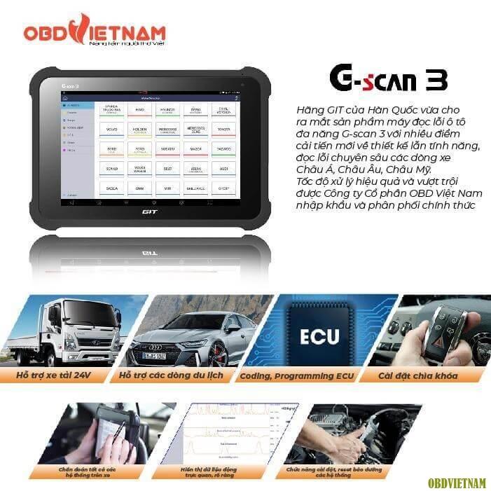 Mở Bán Máy Chẩn Đoán G-scan 3 Phiên Bản Compack Kit Với Giá Cực Sốc