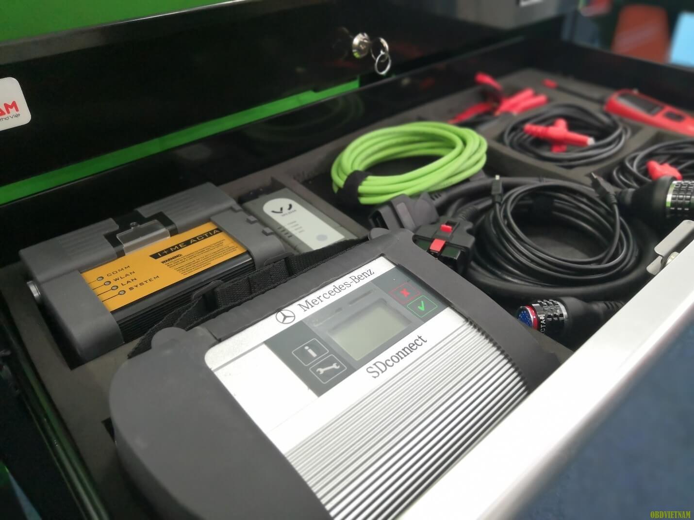 Set up các thiết bị trên tủ chẩn đoán ô tô chuyên dụng - OBD 01
