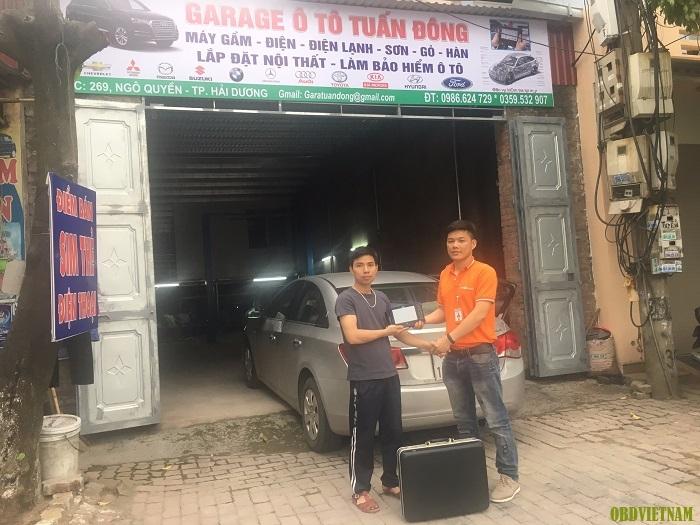 KTV OBD Việt Nam chuyển giao G-scan 2 cho garage ô tô Tuấn Đông