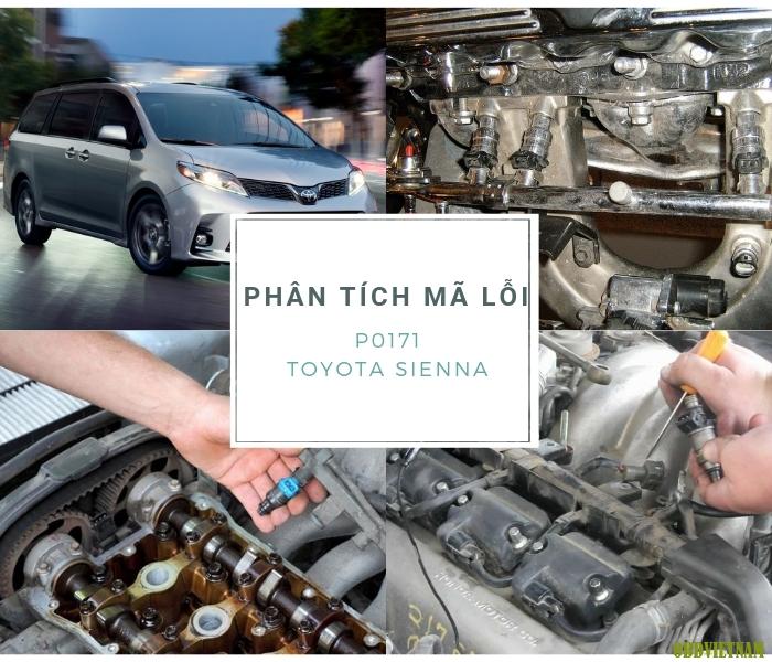 Phân tích mã lỗi P0171 Toyota Sienna 2009