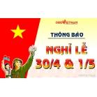 OBD Việt Nam Thông Báo Nghỉ Lễ 30/4 - 01/05