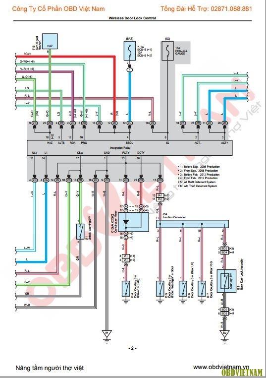 Sơ đồ mạch điện Innova 2018