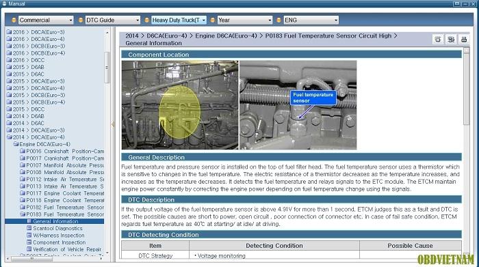 Chức năng tra cứu dữ liệu trên phần mềm chẩn đoán GDS