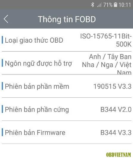 Phiên bản phần mềm FOBD