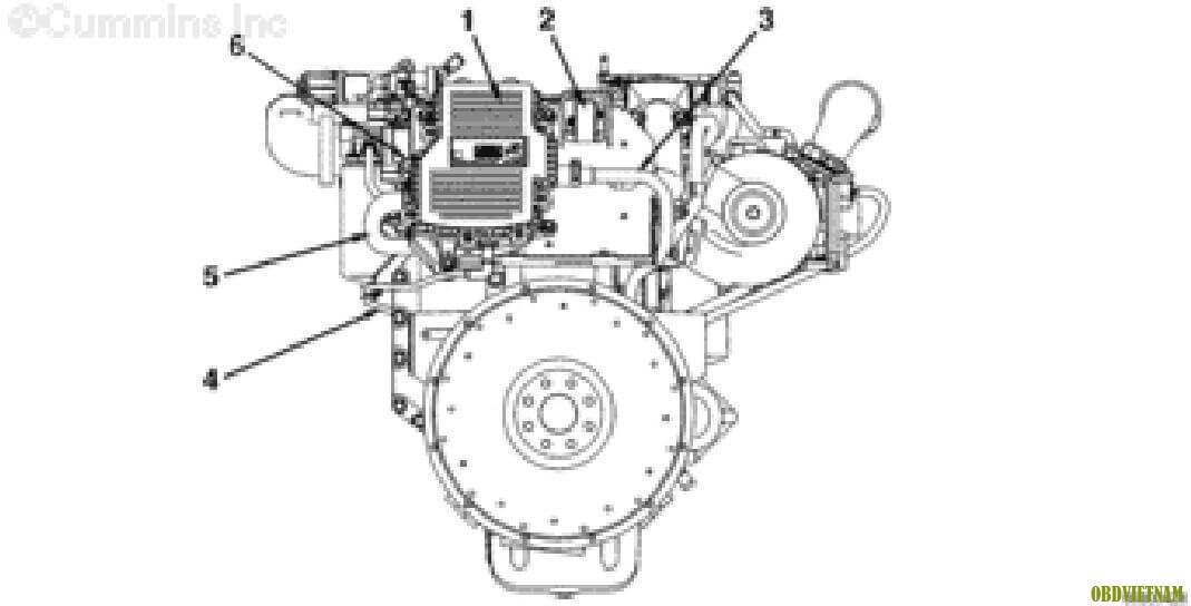 CUMMINS ISB. QSB6.7 CM2250 - Engine Views