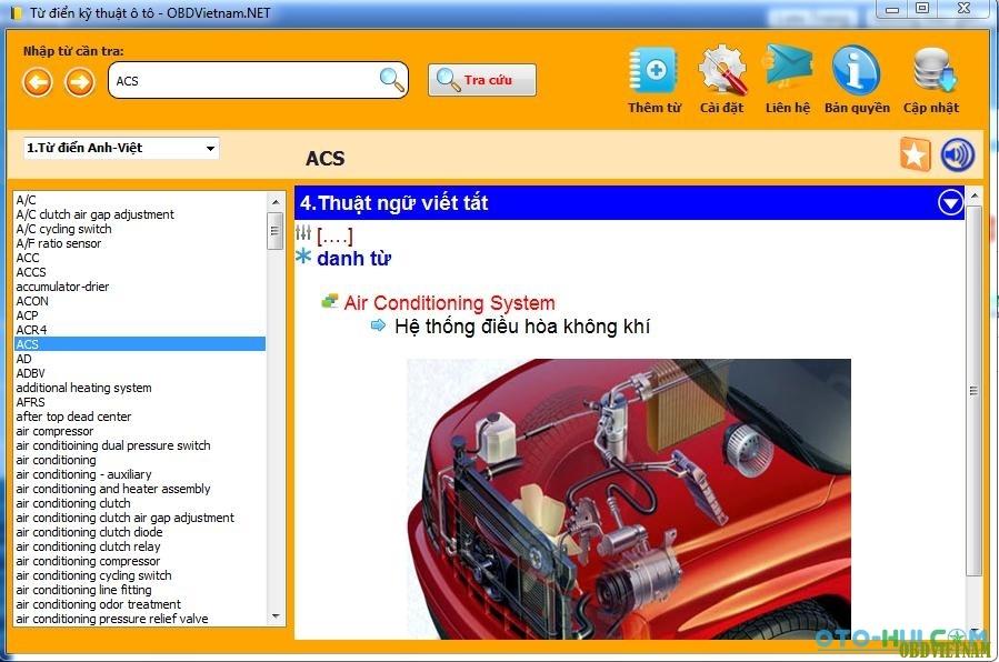 Tải miễn phí phần mềm tra mã lỗi ô tô bằng tiếng việt phiên bản 1.1