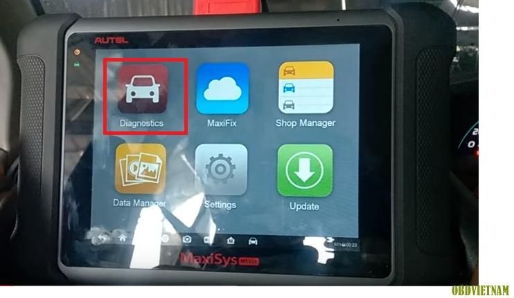 Sử dụng máy đọc lỗi Autel Maxisys MS906 trên xe Ford như thế nào ?