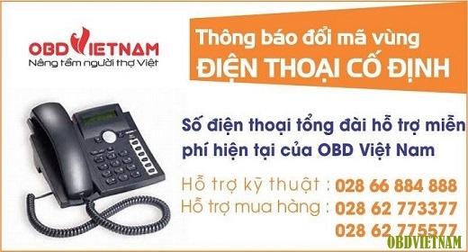 OBD Việt Nam Thông Báo Cập Nhật Số Điện Thoại Tổng Đài Hỗ Trợ Miễn Phí