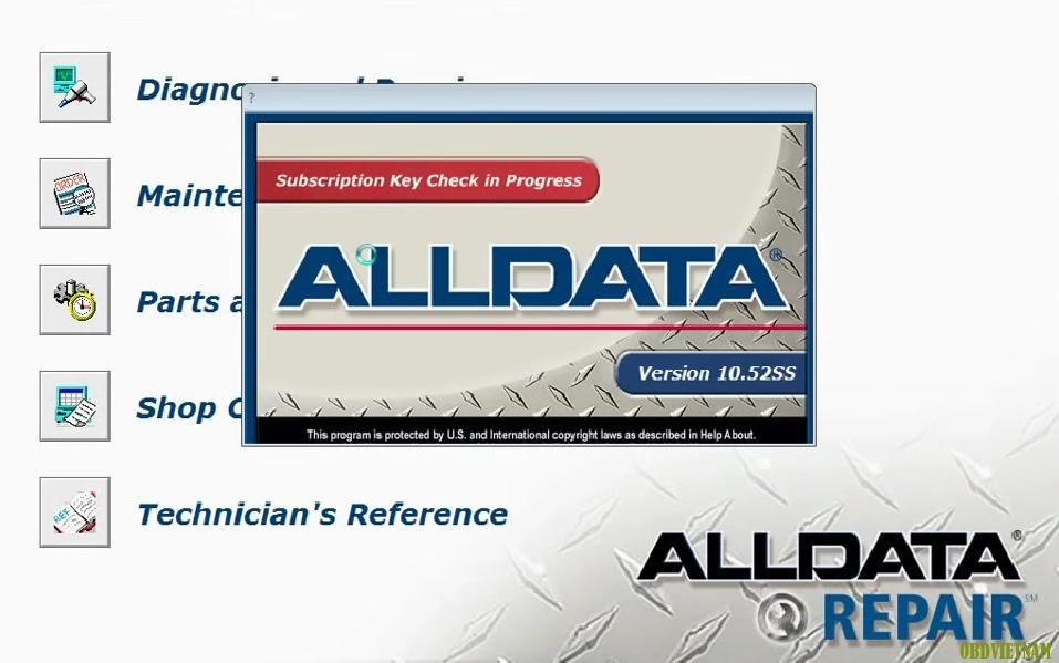 Phần mềm tra cứu sửa chữa ô tô ALLDATA