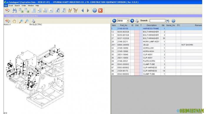 Phần mềm tra mã phụ tùng xe HYUNDAI EPC