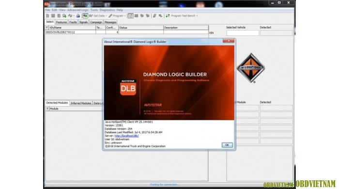 Phần mềm chẩn đoán hệ thống điện Diamond Logic Builder - DLB phiên bản V15581