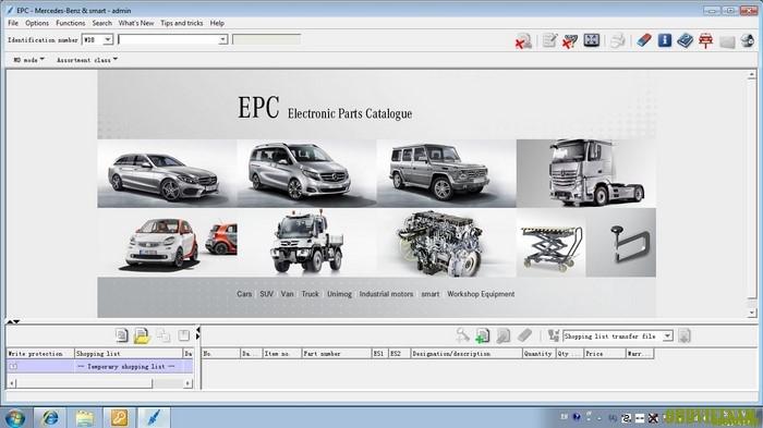 Phần mềm tra cứu phụ tùng MERCEDES-BENZ EPC