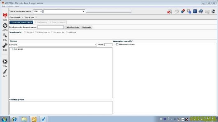 Phần mềm tra cứu thông tin kỹ thuật MERCEDES-BENZ WIS/ASRA