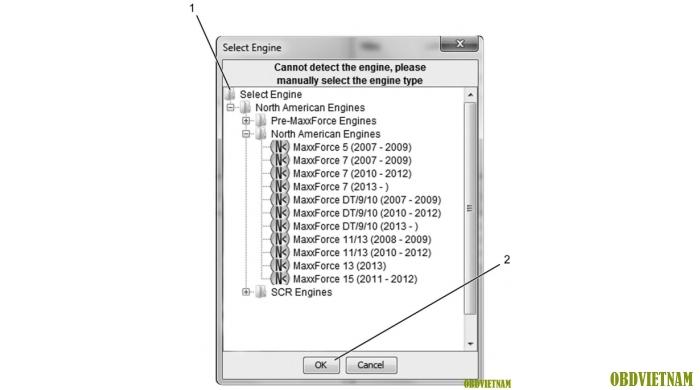 Các dòng xe được hỗ trợ trong phần mềm NavKal Pro