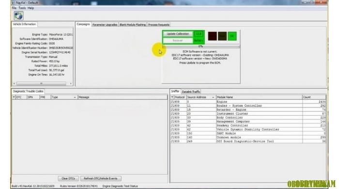 Giao diện làm việc chính của phần mềm NavKal Pro