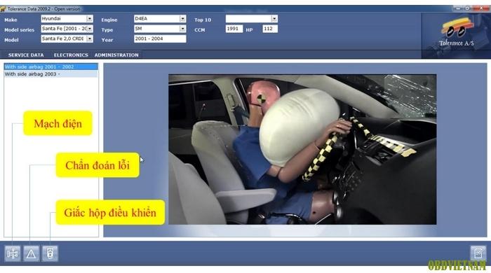 Tra cứu thông tin hệ thống túi khí