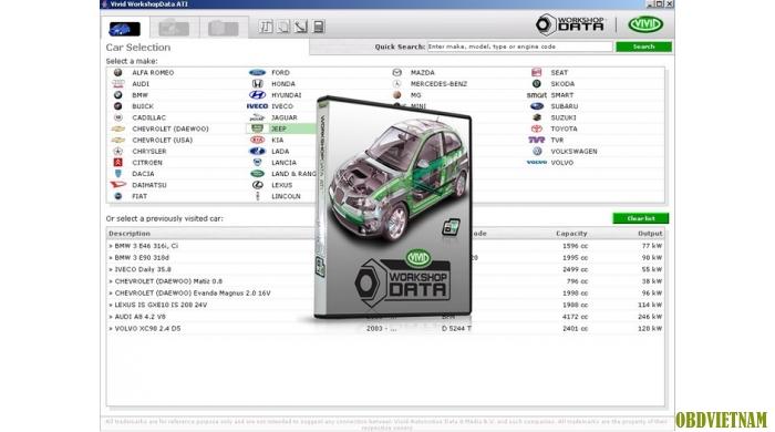 Phần mềm Vivid Workshop Data