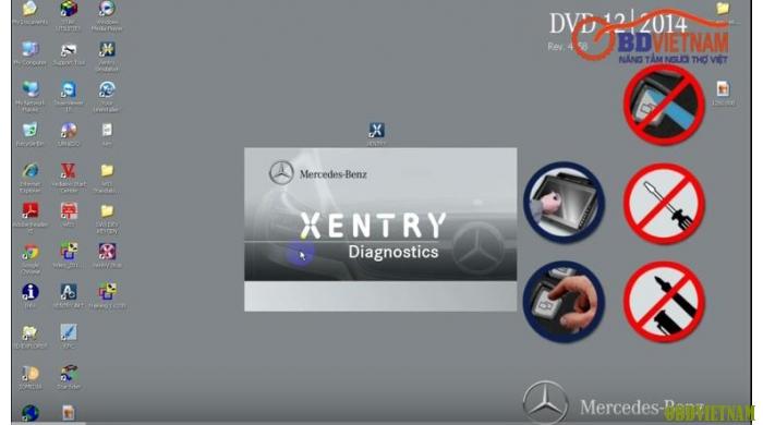 Phần mềm chẩn đoán XENTRY DAS 12.2015