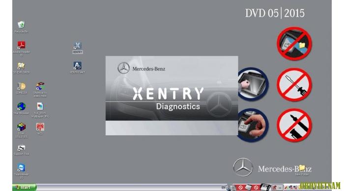 phần mềm chẩn đoán Mercedes Xentry-Das (Phiên bản tháng 12/2015)
