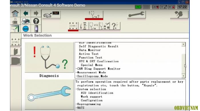 Phần mềm chẩn đoán  Nissan Consult III