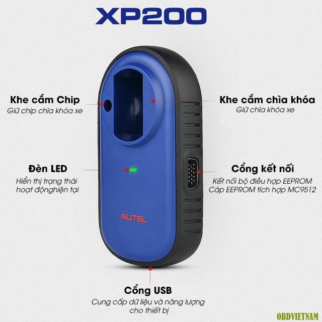 Bộ cài đặt chìa khóa và chip XP200
