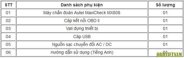 Máy Chẩn Đoán Đa Năng Autel MaxiCheck MX808