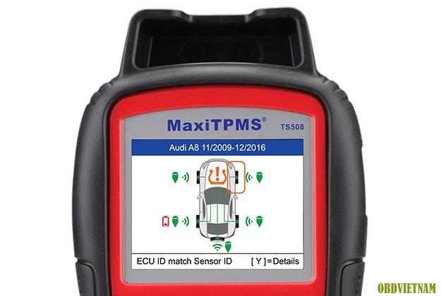 Màn hình hiển thị trên TS508