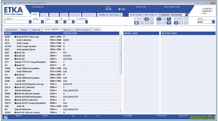 Phần mềm Tra mã phụ tùng Audi - VW - SEAT - SKODA ( 08/2014)