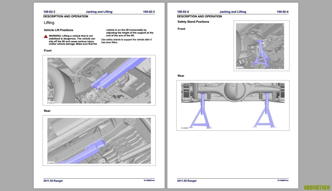 tài liệu sửa chữa xe Ford Ranger