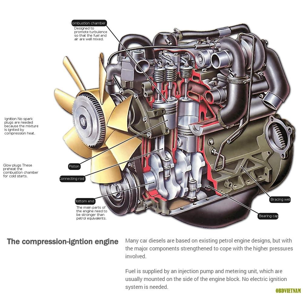 Tiếng Anh Chuyên Ngành Ô Tô (Phần 80) – Động Cơ Diesel Hoạt Động Như Thế Nào?