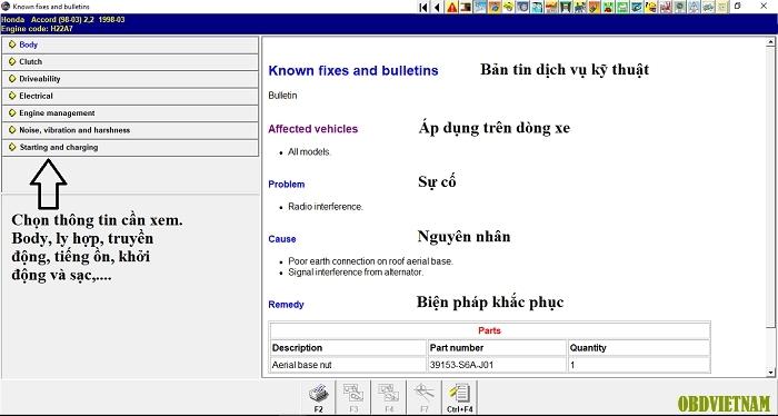 Tính năng tra cứu trong phần mềm Autodata