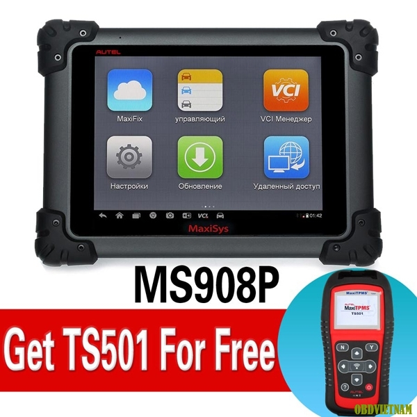 WiFi AUTEL MaxiSYS Pro MS908P Diagnostic System get TS501 for free DHL free shipping