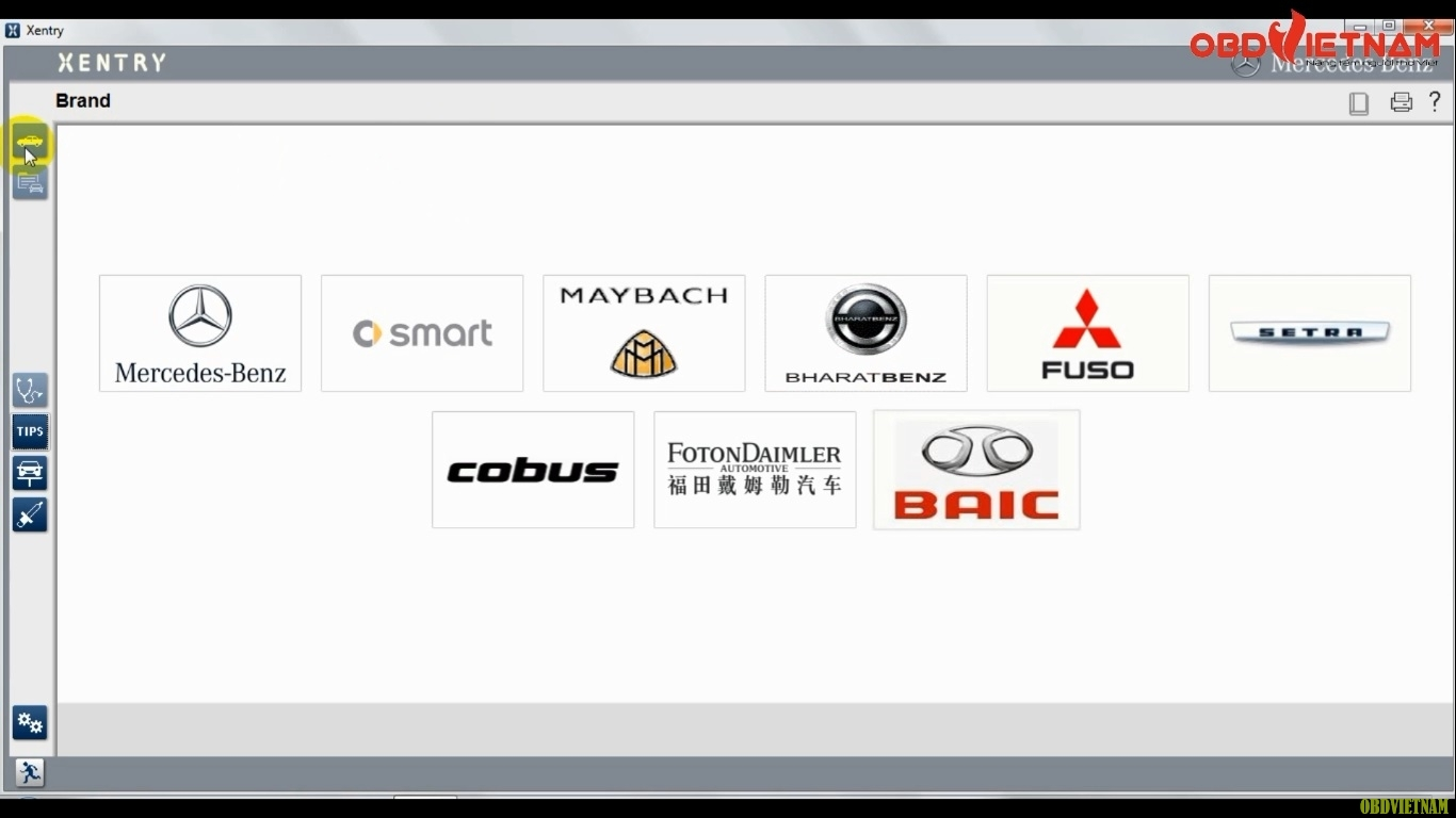 Mitsubishi Fuso C5 chẩn đoán nhiều dòng xe khác nhau