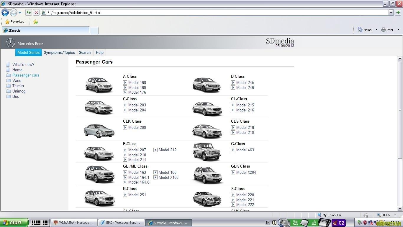 Phần mềm đào tạo Mercedes SD Media